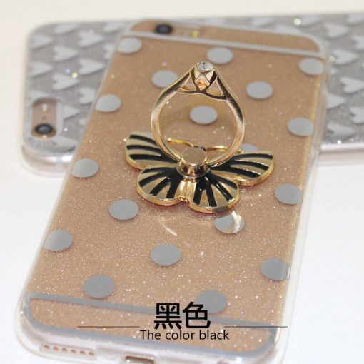 butterfly Black mobile ring